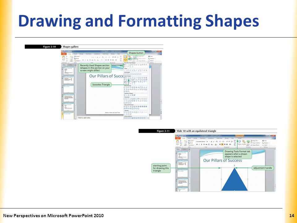 XP Drawing and Formatting Shapes New Perspectives on Microsoft PowerPoint