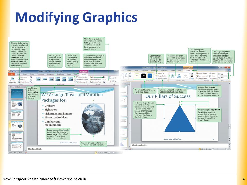 XP Modifying Graphics New Perspectives on Microsoft PowerPoint 20104