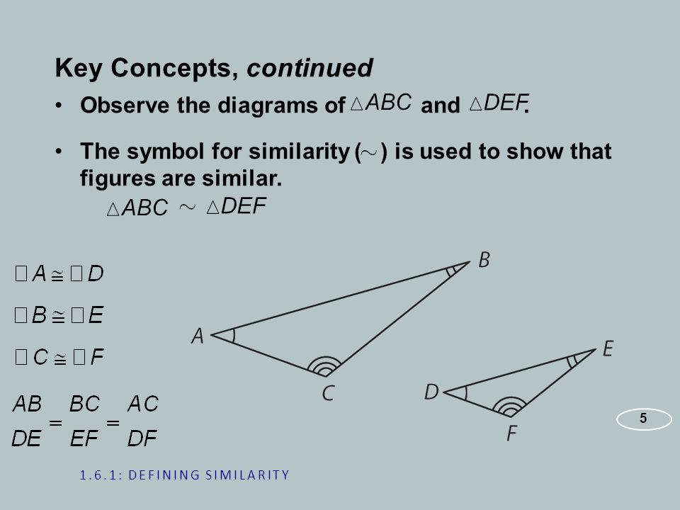 Key Concepts, continued Observe the diagrams of and.