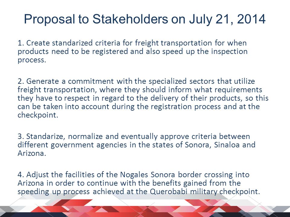 Proposal to Stakeholders on July 21,