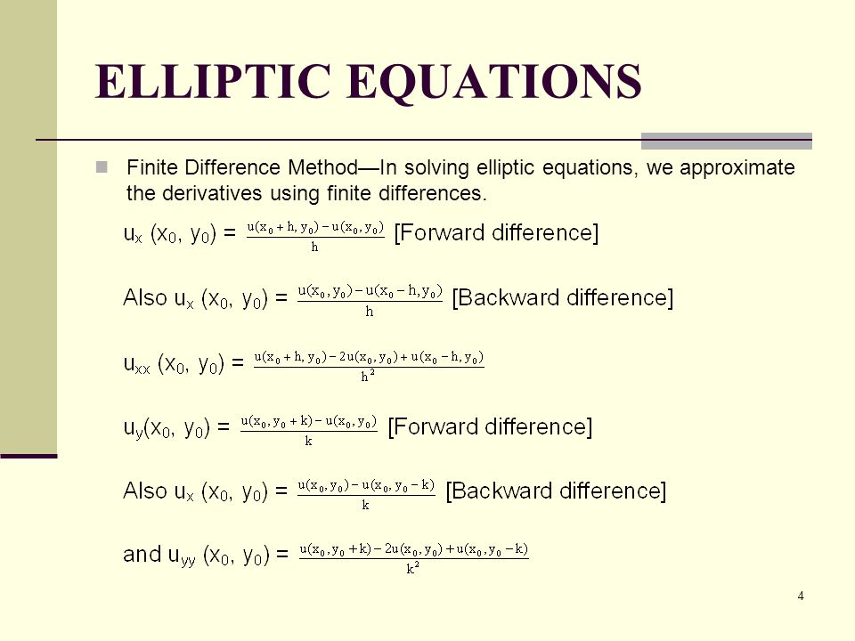 1 Chapter 9 NUMERICAL SOLUTION OF PARTIAL DIFFERENTIAL EQUATIONS