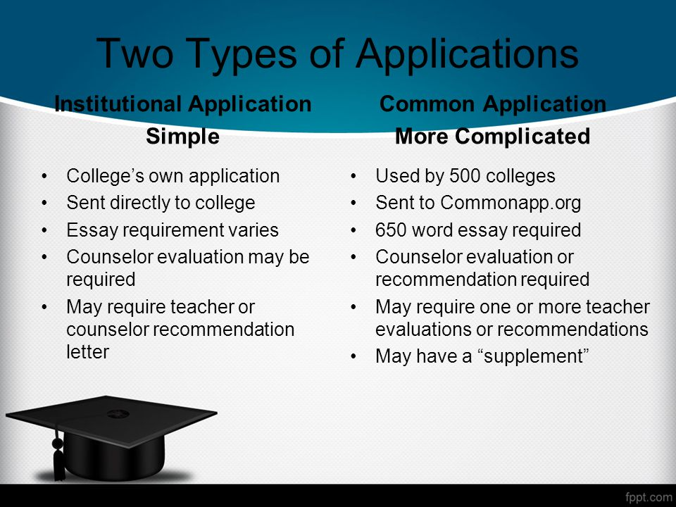 WELCOME SENIOR PARENTS The College Application Process Lianne