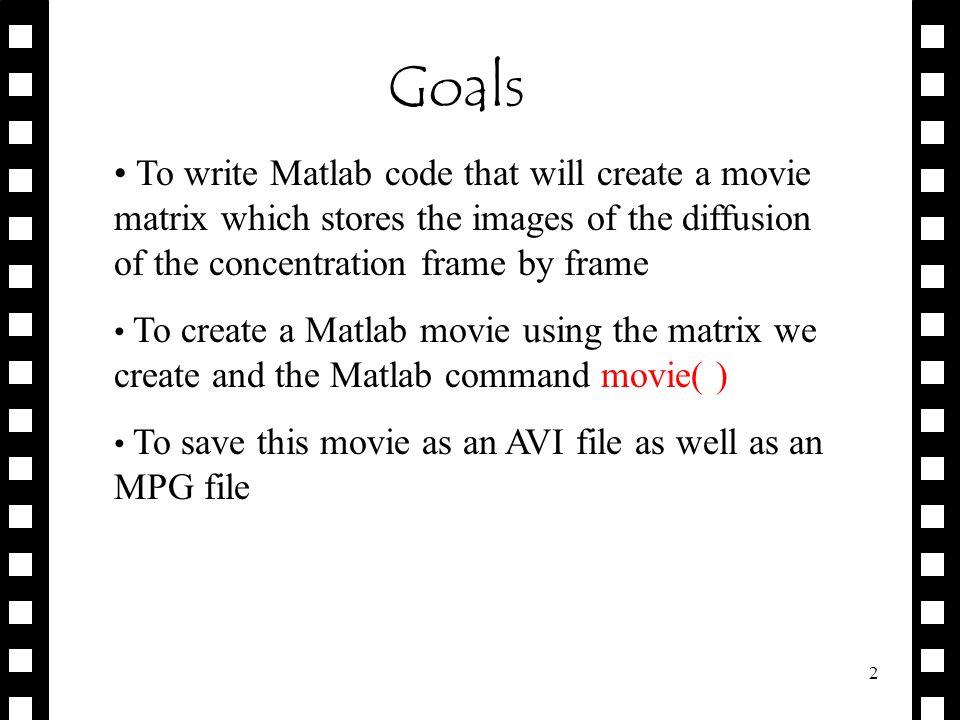 AVI Creating AVI & MPEG Movies Jessica Ewing. 2 Goals To write ...