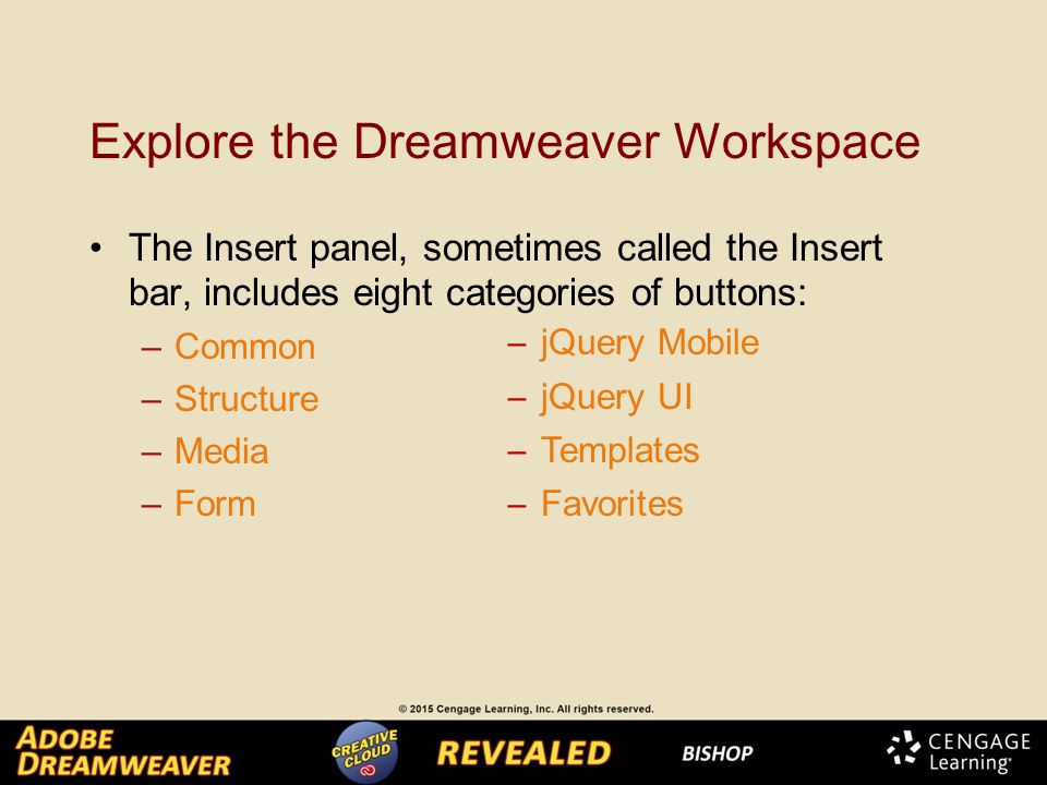 Chapter 1 Getting Started With Dreamweaver  Explore the