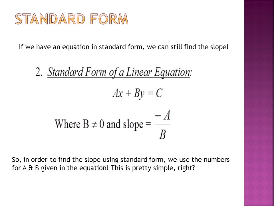 Ms Neal Geometry In Order To Write An Equation Of A Line You Will