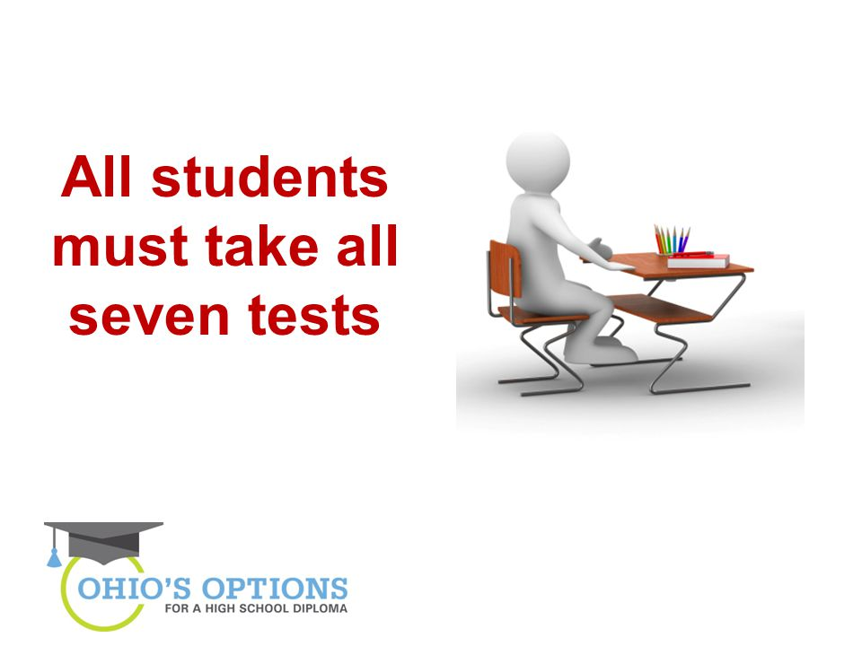 All students must take all seven tests