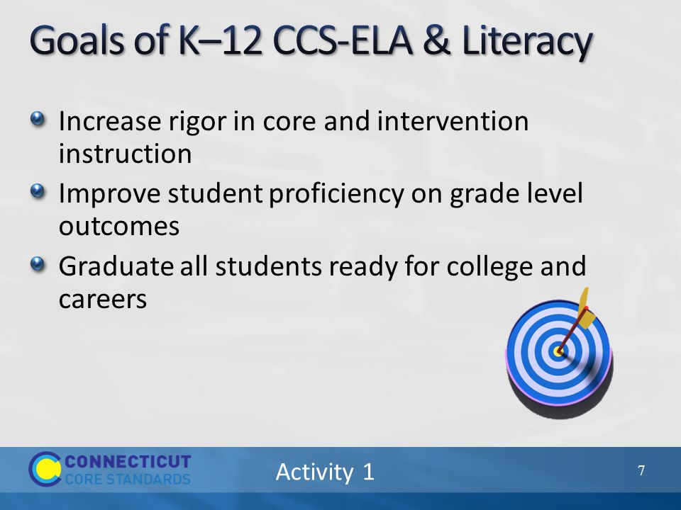 Increase rigor in core and intervention instruction Improve student proficiency on grade level outcomes Graduate all students ready for college and careers 7
