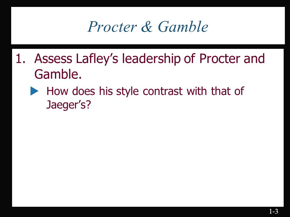 procter and gamble management style