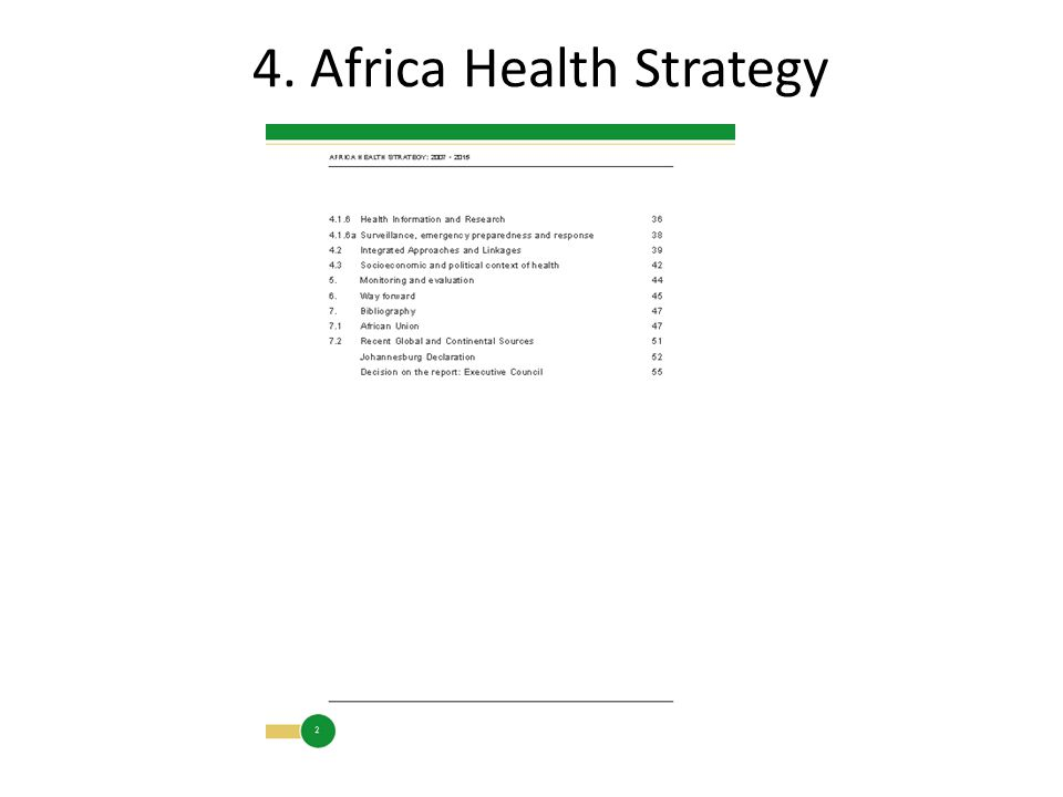 4. Africa Health Strategy