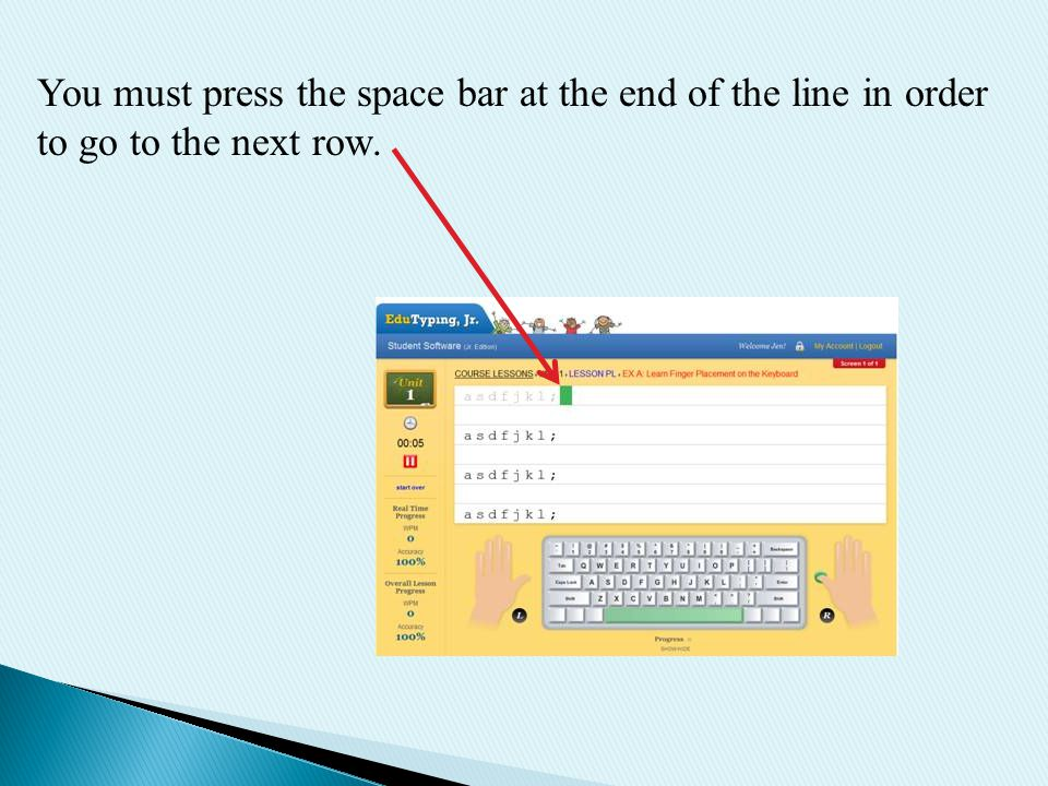 Start by reading the first three Typing Tips  - ppt download