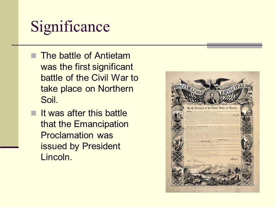 battle of antietam significance