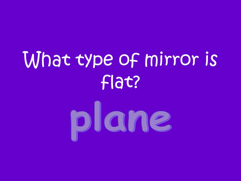 What type of mirror is flat