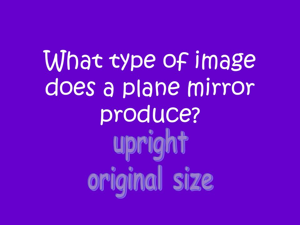 What type of image does a plane mirror produce