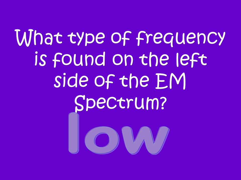 What type of frequency is found on the left side of the EM Spectrum