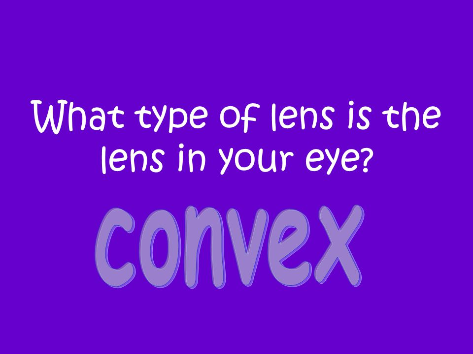 What type of lens is the lens in your eye