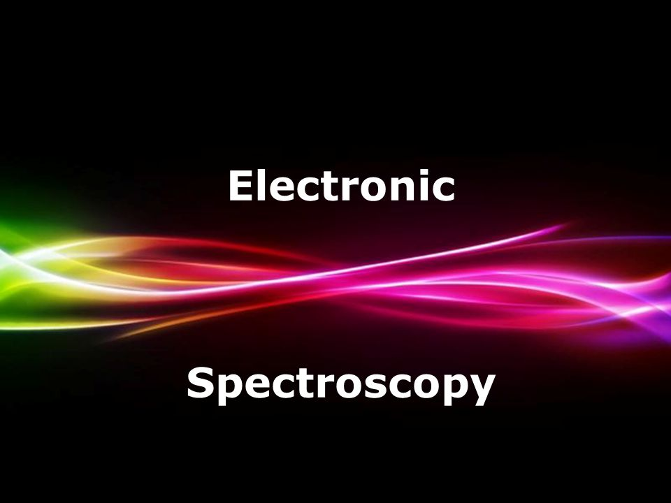 Powerpoint Templates Page 1 Powerpoint Templates Electronic Spectroscopy