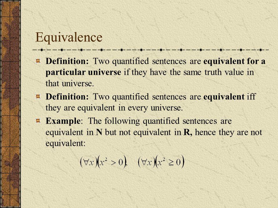 Ch 13 Quantifiers Open Sentences Or Predicates Are Sentences
