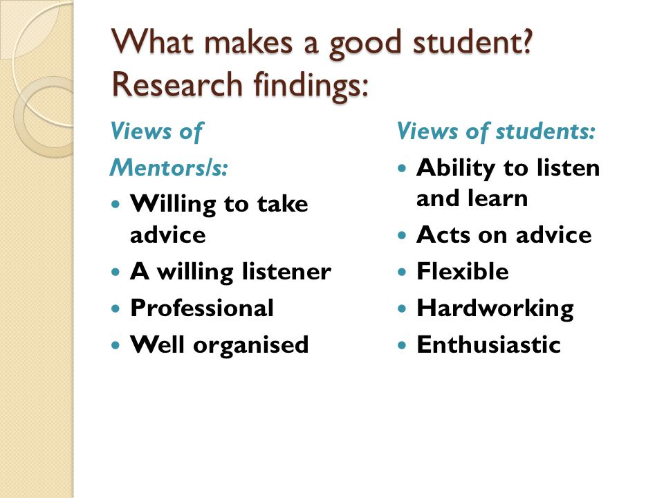 What makes a good student.