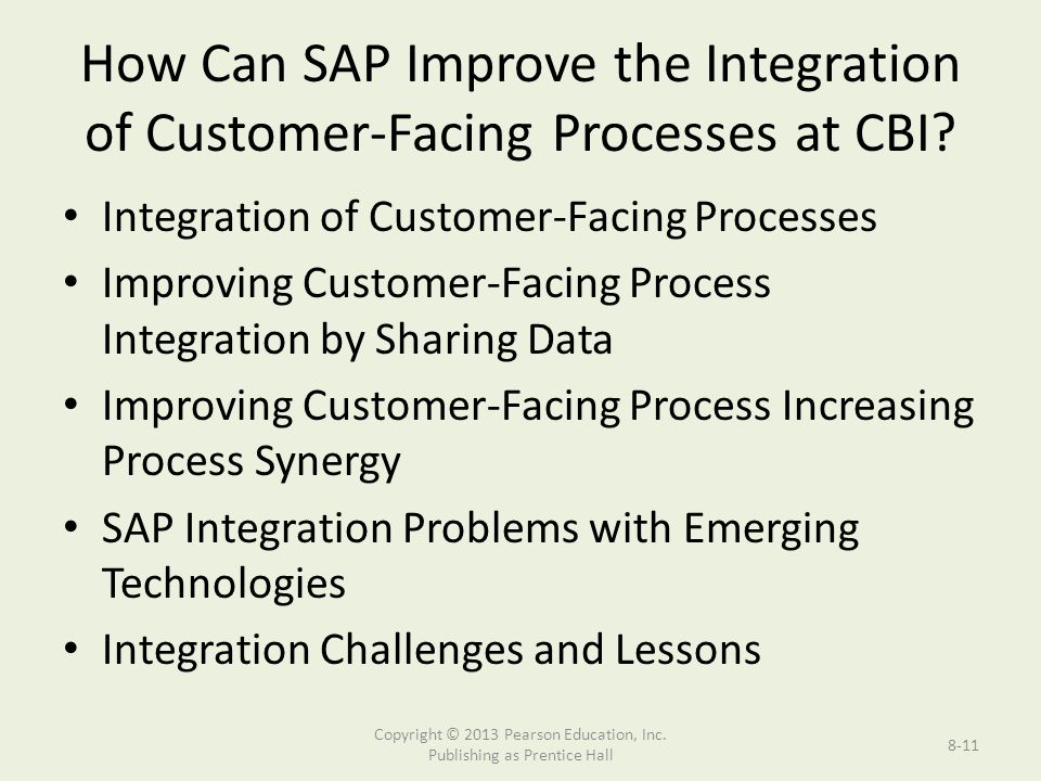 How Can SAP Improve the Integration of Customer-Facing Processes at CBI.
