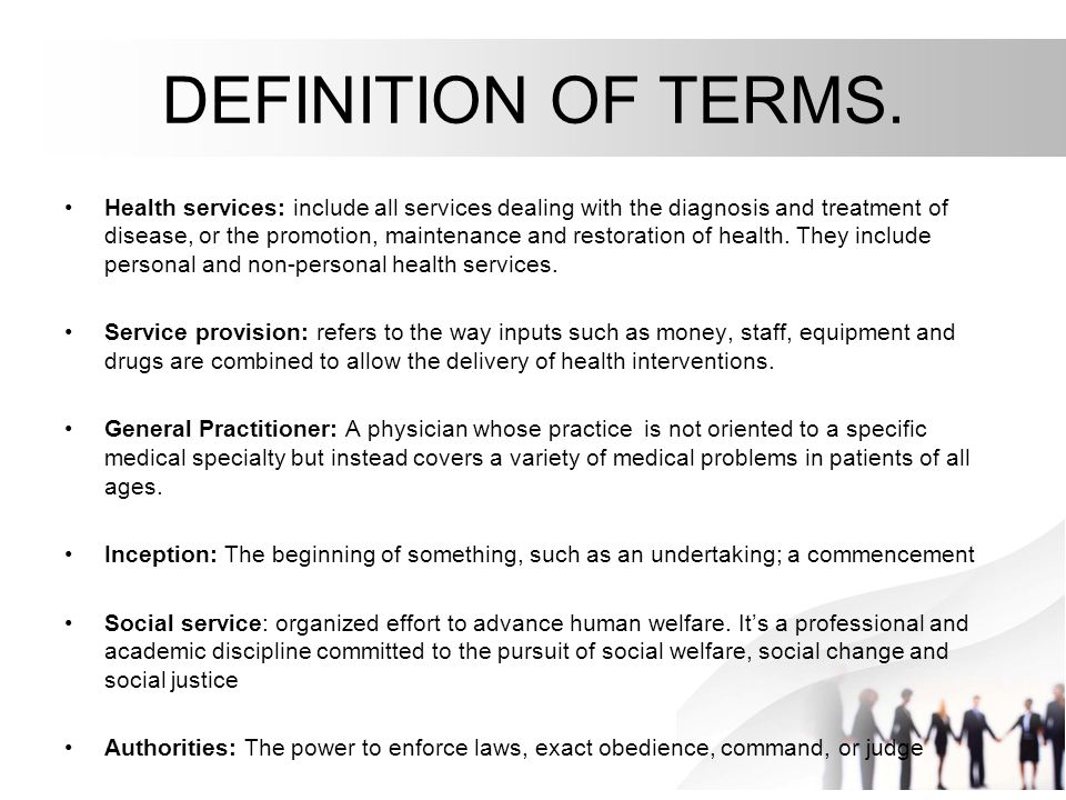 service provision definition in health and social care