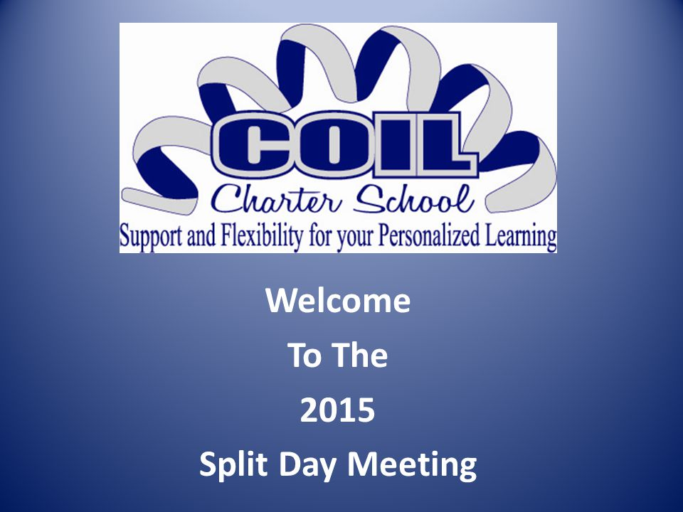 Welcome To The 2015 Split Day Meeting
