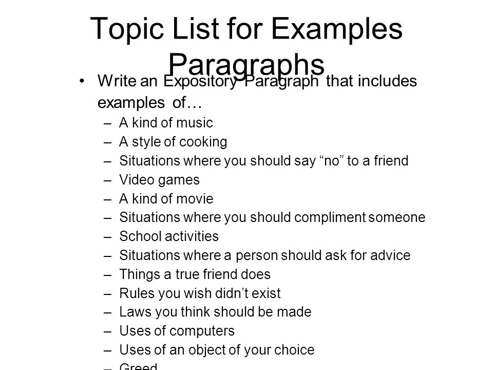 expository composition topics