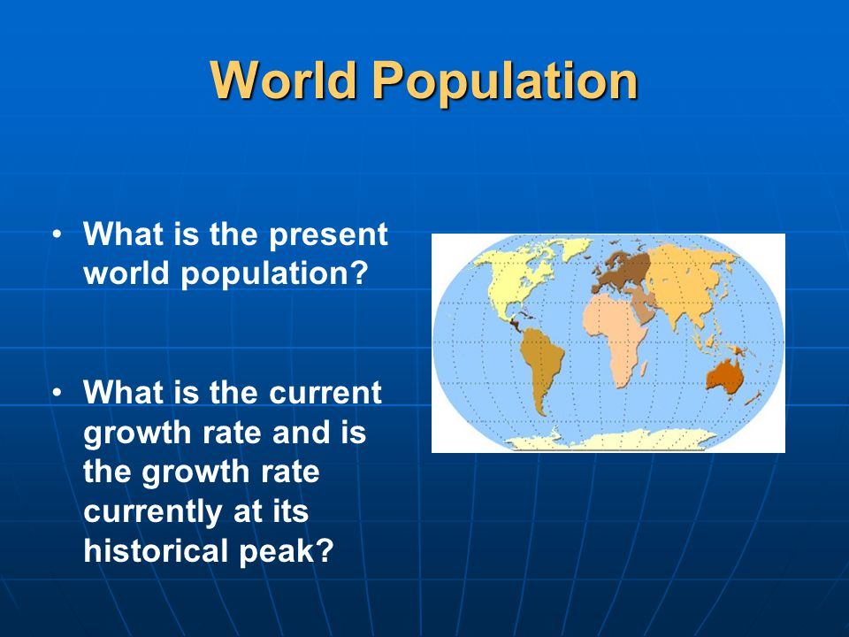 World Population What is the present world population.