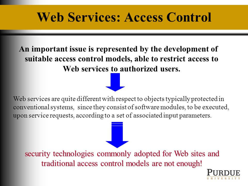 Slide 1 Department Of Computer Science A Flexible Access Control
