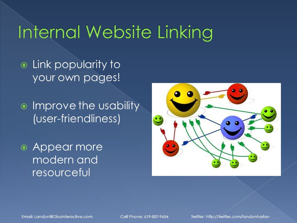  Link popularity to your own pages.