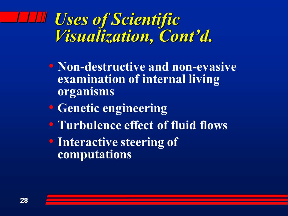 28 Uses of Scientific Visualization, Cont'd.