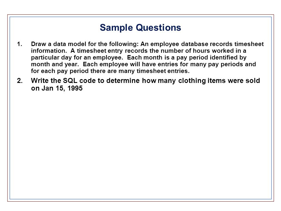 database management fall 2003 midterm review chapters 1 ppt download