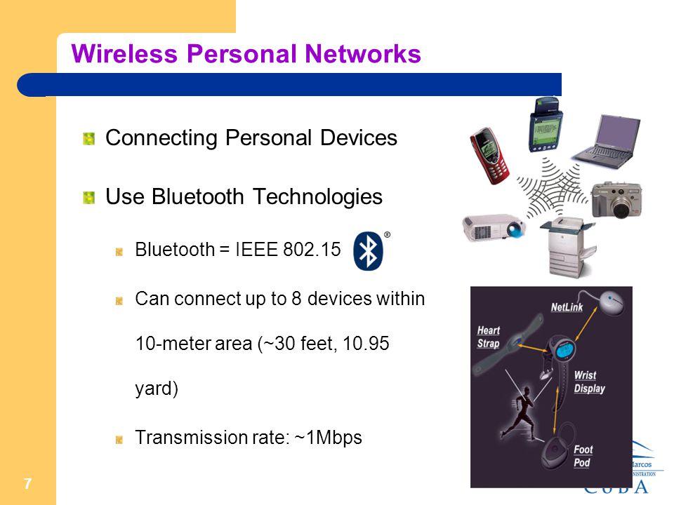 1 Part 4 Wireless Network Wireless Technologies Wireless