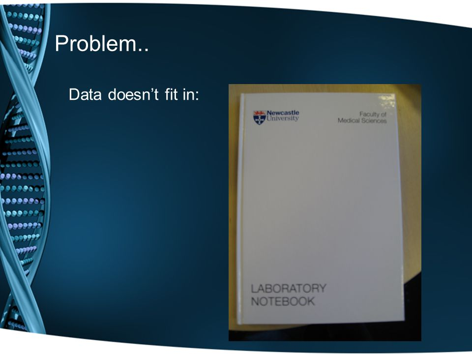 Problem.. Data doesn't fit in: