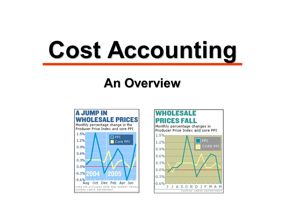 Cost Accounting An Overview