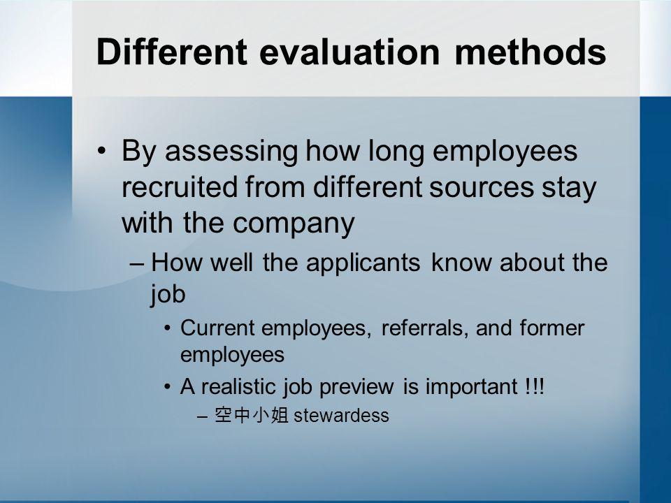 Outline Recruitment Recruitment processes Sources of recruitment Evaluation of different sources