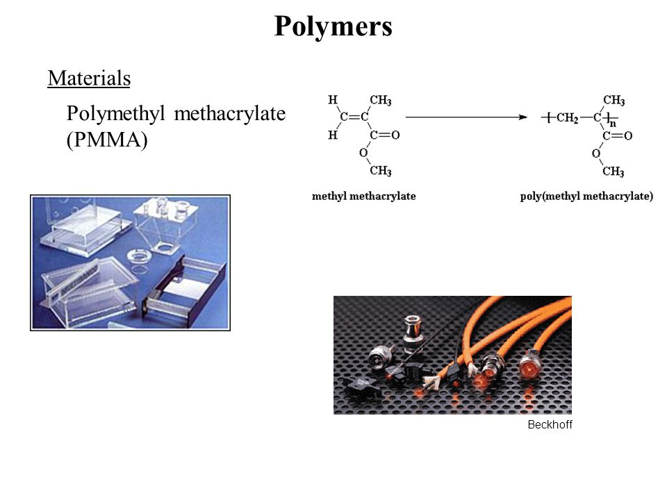 Polymers Materials Polymethyl methacrylate (PMMA) Beckhoff