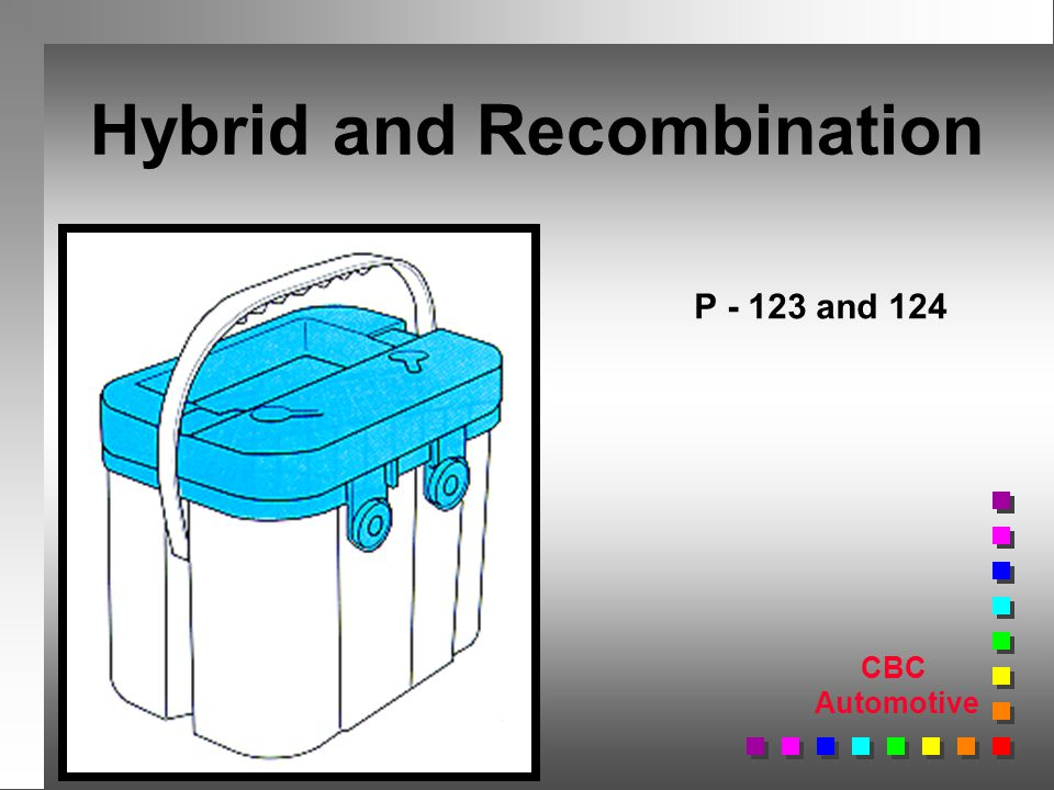 CBC Automotive Hybrid and Recombination P and 124