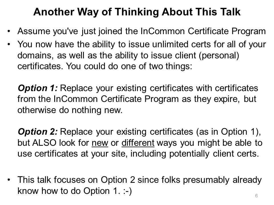 Leveraging Certificates For Improved Security Joe St Sauver Phd