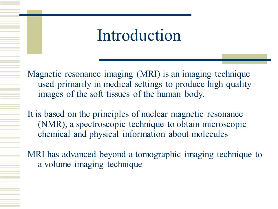 Magnetic Resonance Imaging Basic Principles Of Mri This Lecture