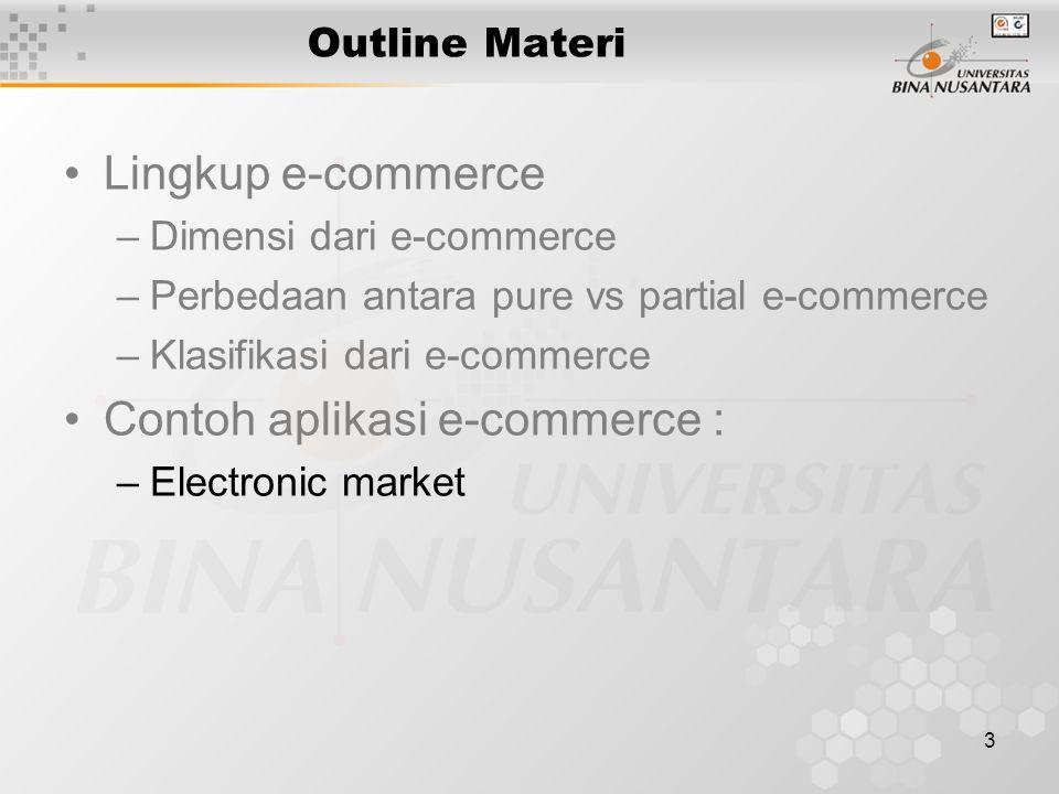 1 Pertemuan 5 Model Transaksi E Commerce Matakuliah H0292 E