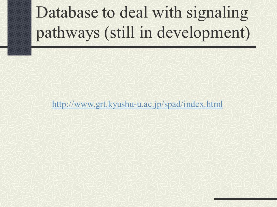 Database to deal with signaling pathways (still in development)
