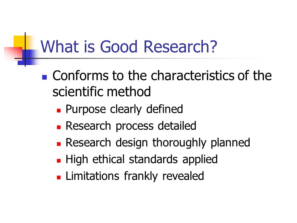 What is Good Research.