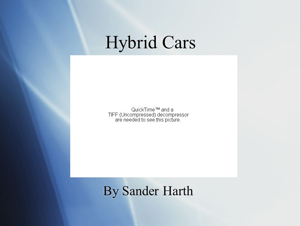 Hybrid Cars By Sander Harth