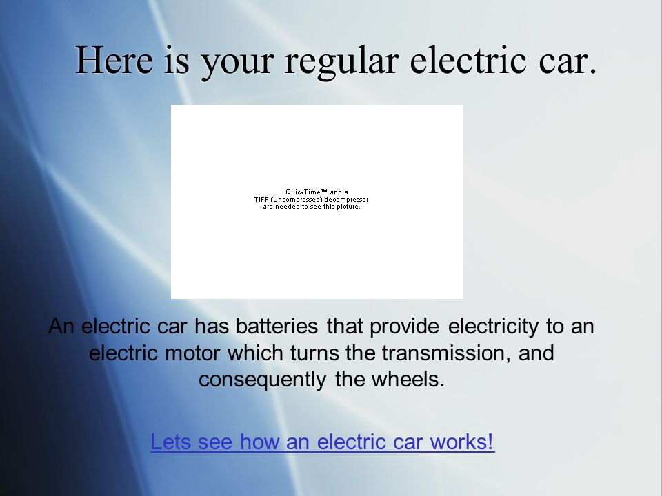 Here is your regular electric car.