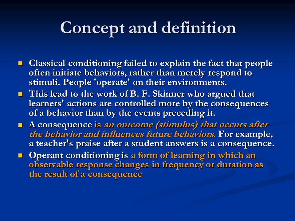compare and contrast classical conditioning and operant conditioning