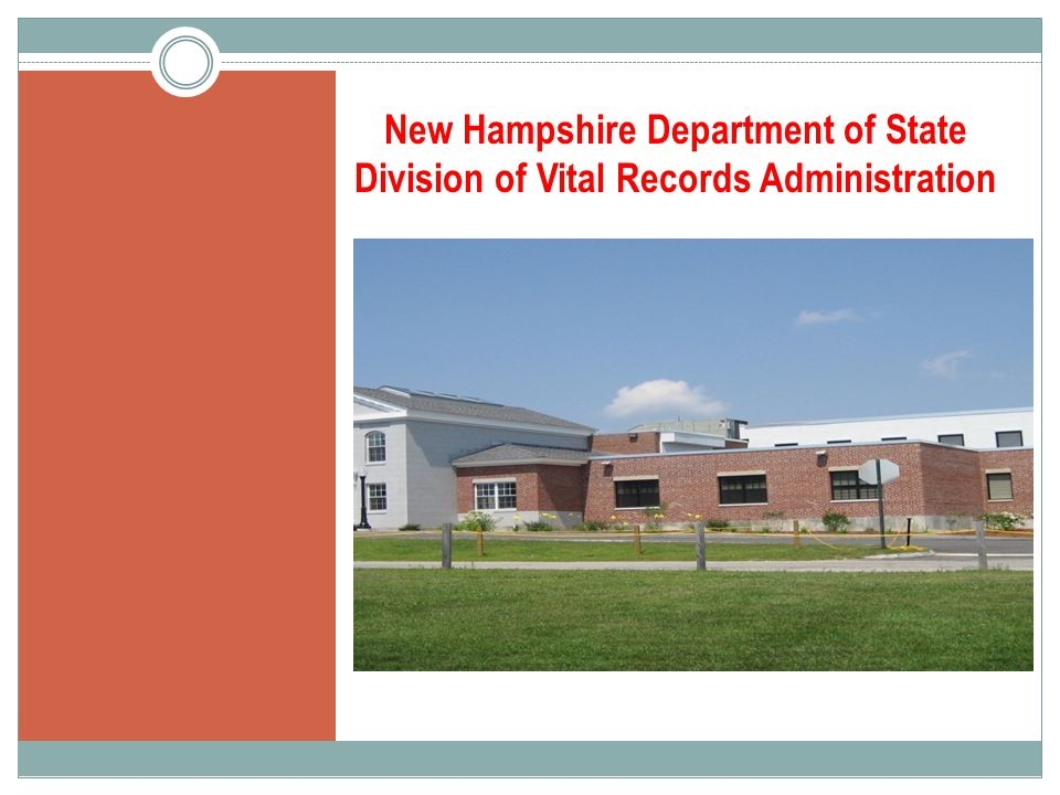 New Hampshire Department of State Division of Vital Records