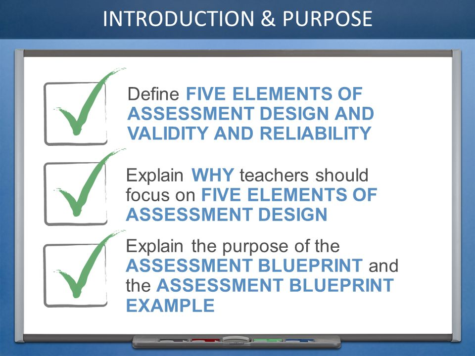 7 Define Five Elements Ofessment Design And Validity And Reliability Explain Why