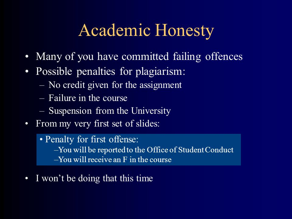 academic honesty essay Academic dishonesty or academic misconduct is any type of cheating that occurs in relation to a formal academic exercise it can include plagiarism: the adoption or reproduction of ideas or words or statements of another person without due acknowledgment fabrication: the falsification of data, information, or citations in any formal academic exercise.