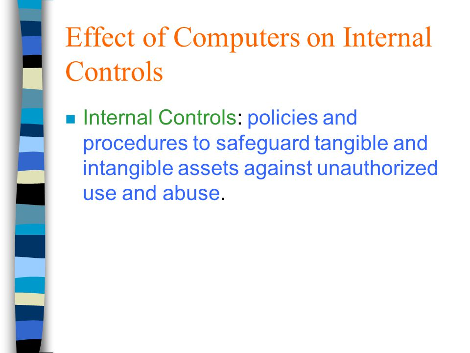 internal control recommendations