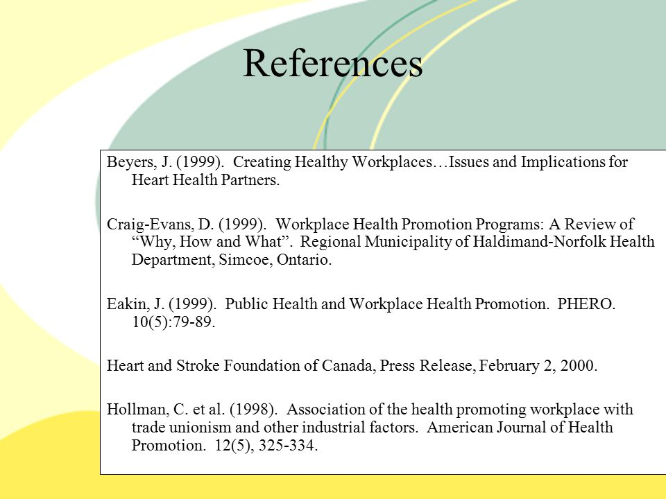 References Beyers, J. (1999).